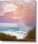 When Heaven Breaks - Surrealism Metal Print