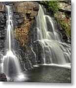 When Light And Water Falls-1a Blackwater Falls State Park Wv Autumn Mid-morning Metal Print