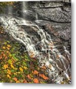 When Light And Water Falls-5a Blackwater Falls State Park Wv Autumn Mid-morning Metal Print