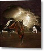 When Lightning Strikes Metal Print