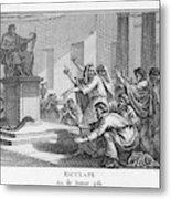 When Plague-afflicted Romans  Come Metal Print
