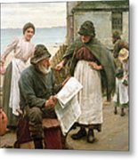 When The Boats Are Away Metal Print by Walter Langley