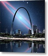 When The Galaxy Came To St. Louis Metal Print