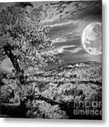 When The Moon Comes Over Da Mountain Metal Print