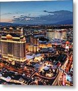 When Vegas Comes To Life Metal Print