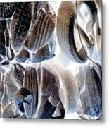 Wher The Rubber Meets The End Metal Print