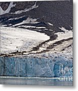 Where Glaciers Meet Metal Print