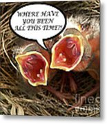 Where Have You Been Greeting Card Metal Print