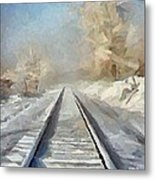 Where Is The Train Metal Print