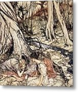 Where Often You And I Upon Fain Primrose Beds Were Wont To Lie Metal Print by Arthur Rackham
