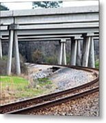 Where Old And New Cross Paths Metal Print