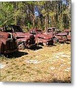 Where Old Vehicles Go Metal Print
