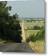 Where The Highway Ends And Country Begins Metal Print