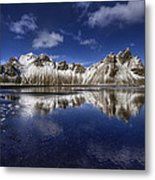 Where The Mountains Meet The Sky Metal Print