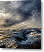 Where The River Kisses The Sea Metal Print