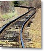 Where The Tracks Bend Metal Print