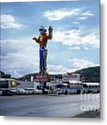 Where The West Begins Stateline Casino In Wendover Nevada 1962 Metal Print