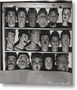 Find The Real Ventriloquist Head Metal Print