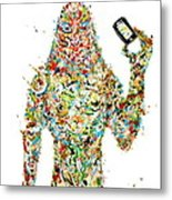While My Smartphone Gently Weeps Metal Print