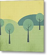 Whimsical Forest Metal Print