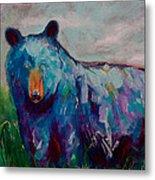 Whimsy Bear Painting Black Bear Brown Bear Wall Art Metal Print