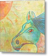 Whimsy Colorful Horse Metal Print