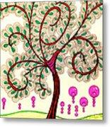 Whimsy Tree Metal Print