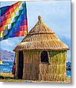 Whiphala Flag On Floating Island Metal Print