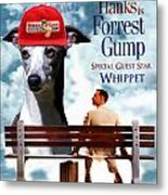 Whippet Art - Forrest Gump Movie Poster Metal Print