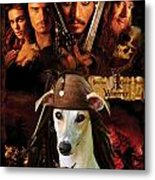 Whippet Art - Pirates Of The Caribbean The Curse Of The Black Pearl Movie Poster Metal Print