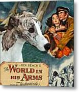 Whippet Art - The World In His Arms Movie Poster Metal Print
