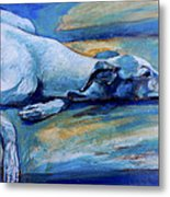 Whippet-effects Of Gravity-6 Metal Print