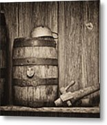 Whiskey Barrel Still Life Metal Print