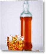 Whiskey Glass Metal Print