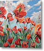 Whispering Poppies Metal Print