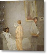 Whistler In His Studio Metal Print