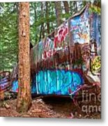 Whistler Train Wreck Box Car Graffiti Metal Print