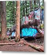 Whistler Train Wreckage Among The Trees Metal Print