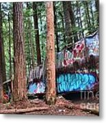 Whistler Train Wreckage In The Trees Metal Print