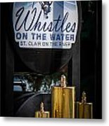 Whistles On The Water Metal Print