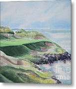 Whistling Straits 7th Hole Metal Print by Deborah Ronglien
