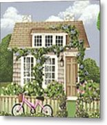 Whitby Cottage Metal Print by Catherine Holman