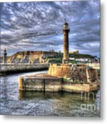 Whitby Harbour On The North Yorkshire Coast Metal Print