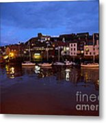 Whitby Lower Harbour At Night Metal Print