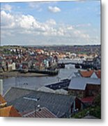 Whitby Rooftops Metal Print