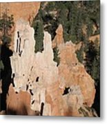 White And Red Rocks Of Bryce Np Metal Print