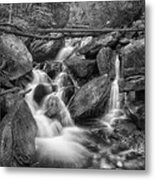 White And Rocky Bw Metal Print