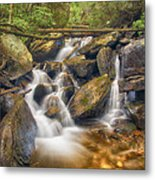 White And Rocky Hdr Metal Print