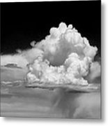White Billowing Cloud Formation In Montana Metal Print