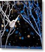 White Bird In Winter Metal Print